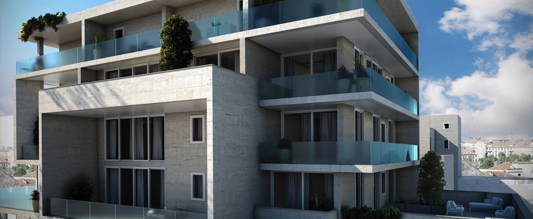 Mittel immobiliare residenziale for Piani di palazzi contemporanei
